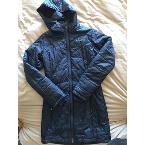 Long Columbia down coat